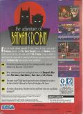 The Adventures of Batman & Robin Genesis Back Cover