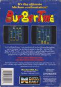BurgerTime NES Back Cover