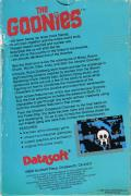 The Goonies Atari 8-bit Back Cover