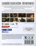 Metal Gear Solid HD Edition PS Vita Back Cover