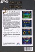 Death Sword Commodore 64 Back Cover