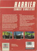 Harrier Combat Simulator PC Booter Back Cover