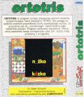 Ortotris Amiga Back Cover