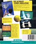 Jimmy Connors Pro Tennis Tour Commodore 64 Back Cover