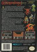 Wizardry: Proving Grounds of the Mad Overlord NES Back Cover