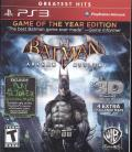 Batman: Arkham Asylum - Game of the Year Edition PlayStation 3 Front Cover