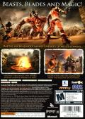 Golden Axe: Beast Rider Xbox 360 Back Cover