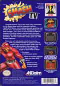 Smash T.V. NES Back Cover