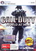 Call of Duty: World at War Windows Front Cover Box, contains 2 extra labels - one of HK distributior, 1 of Activision.