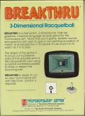 3-D Brickaway Commodore 64 Back Cover