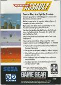 Aerial Assault Game Gear Back Cover