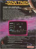 Star Trek: Strategic Operations Simulator ColecoVision Back Cover