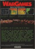 WarGames  ColecoVision Back Cover
