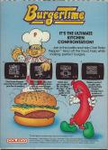 BurgerTime ColecoVision Back Cover
