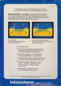 NBA Basketball Intellivision Back Cover