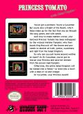 Princess Tomato in the Salad Kingdom NES Back Cover