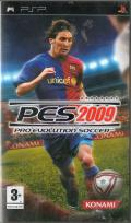 PES 2009: Pro Evolution Soccer PSP Front Cover