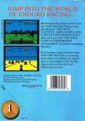 Enduro Racer Commodore 64 Back Cover