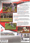 Major League Baseball 2K6 PlayStation 2 Back Cover
