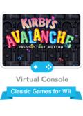 Kirby's Avalanche Wii Front Cover