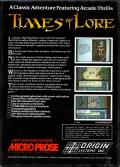 Times of Lore Atari ST Back Cover