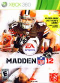 Madden NFL 12 Xbox 360 Front Cover