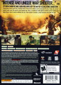 Spec Ops: The Line Xbox 360 Back Cover