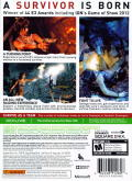 Tomb Raider Xbox 360 Back Cover