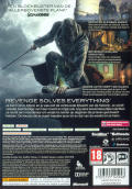Dishonored Xbox 360 Back Cover