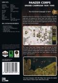 Panzer Corps: Grand Campaign 1939-1945 Mega Pack Windows Back Cover
