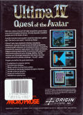 Ultima IV: Quest of the Avatar Amiga Back Cover
