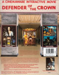 Defender of the Crown Amiga Back Cover