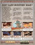 Indiana Jones and The Fate of Atlantis: The Action Game Commodore 64 Back Cover