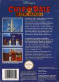 Chip 'N Dale: Rescue Rangers NES Back Cover