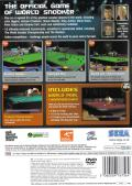 World Snooker Championship 2007 PlayStation 2 Back Cover