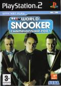 World Snooker Championship 2007 PlayStation 2 Front Cover