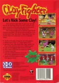 Clay Fighter Genesis Back Cover