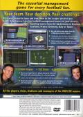 LMA Manager 2002 PlayStation 2 Back Cover