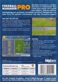 Soccer Manager Pro Windows Back Cover
