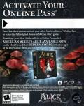 Alice: Madness Returns PlayStation 3 Other DLC Code (Front) - American McGee's Alice