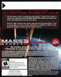 Mass Effect 3 PlayStation 3 Other DLC Code (Back) - Mass Effect 3: From Ashes