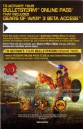 Bulletstorm (Epic Edition) Xbox 360 Other DLC download card & online pass - Front