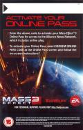 Mass Effect 3 Xbox 360 Other Online Pass - Front