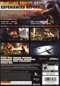 Call of Duty: World at War Xbox 360 Back Cover