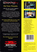 Wizardry: Bane of the Cosmic Forge DOS Back Cover
