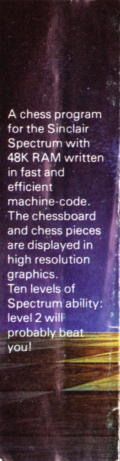Chess ZX Spectrum Back Cover