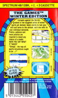 The Games: Winter Edition ZX Spectrum Back Cover