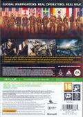 Medal of Honor: Warfighter Xbox 360 Back Cover