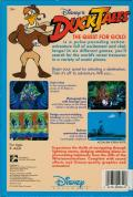 Disney's Duck Tales: The Quest for Gold Commodore 64 Back Cover