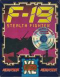 F-19 Stealth Fighter DOS Front Cover Spanish localized sticker